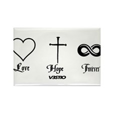 Love Hope Forever Rectangle Magnet