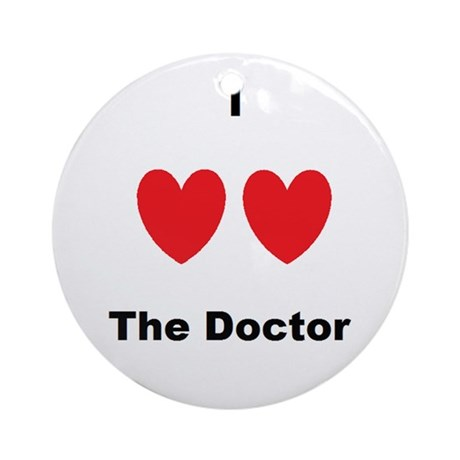 Heart the Doc Ornament (Round)