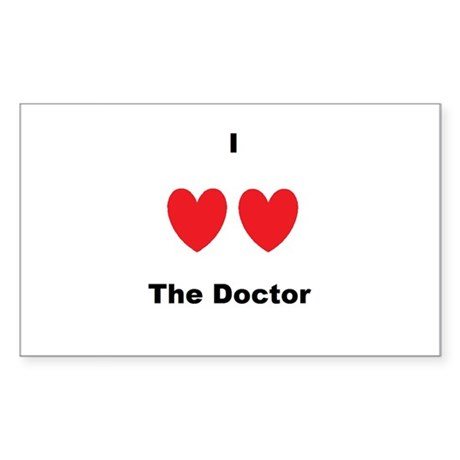 Heart the Doc Sticker (Rectangle)