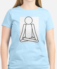 Lotus Position Meditation To Women's Pink T-Shirt
