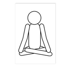 Lotus Position Meditation To Postcards (Package o