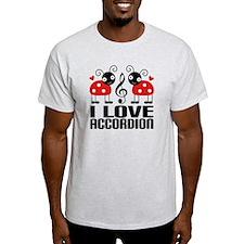 I Love Accordion Ladybug T-Shirt