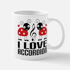 I Love Accordion Ladybug Mug