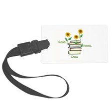Sunflowers and Books Luggage Tag