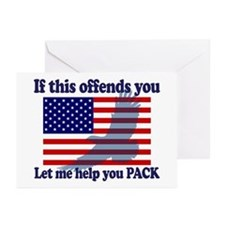Flag Eagle Patriot Greeting Cards (Pk of 20)
