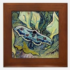 Van Gogh Great Peacock Moth Framed Tile