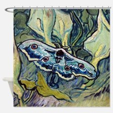 Van Gogh Great Peacock Moth Shower Curtain