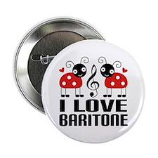 """I Love Baritone Ladybug 2.25"""" Button"""