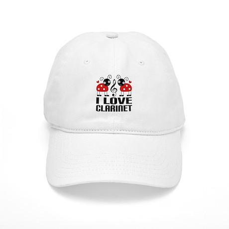 I Love Clarinet Ladybug Cap