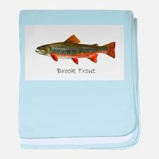 Painting of Brook Trout baby blanket