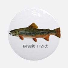 Painting of Brook Trout Ornament (Round)