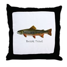 Painting of Brook Trout Throw Pillow
