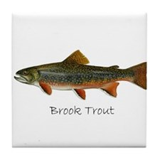 Painting of Brook Trout Tile Coaster