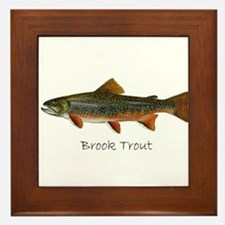Painting of Brook Trout Framed Tile