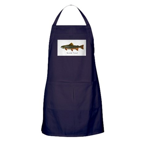 Painting of Brook Trout Apron (dark)