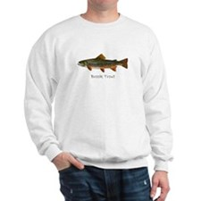 Painting of Brook Trout Sweatshirt