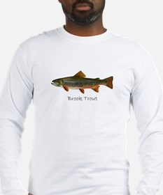 Painting of Brook Trout Long Sleeve T-Shirt