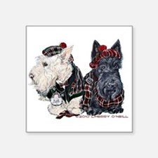 "Scottish Highland Terriers Square Sticker 3"" x 3"""