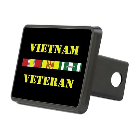 Vietnam Veteran 2 Star Rectangular Hitch Cover