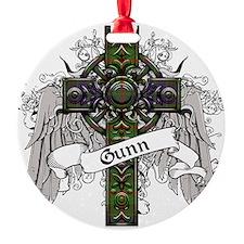 Gunn Tartan Cross Round Ornament