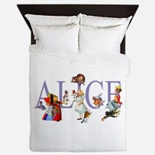 ALICE & FRIENDS IN WONDERLAND Queen Duvet