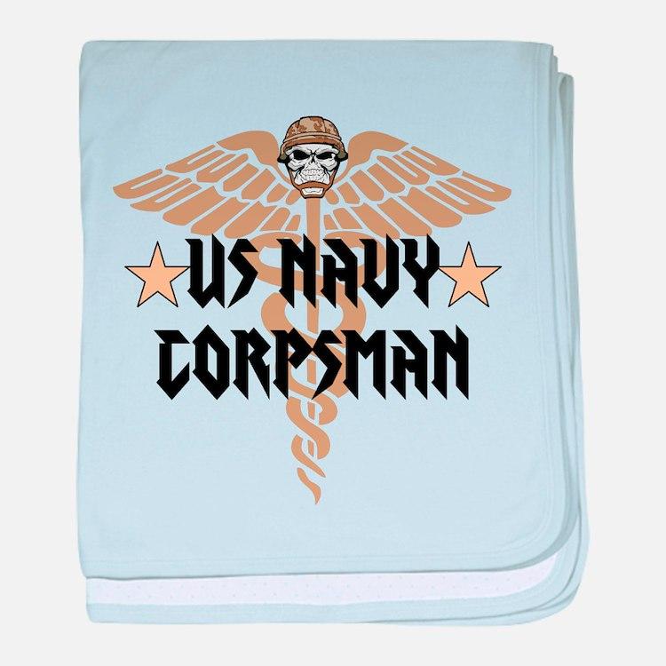 US Navy Corpsman baby blanket