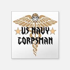 "US Navy Corpsman Square Sticker 3"" x 3"""