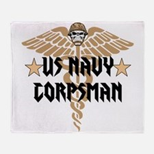 US Navy Corpsman Throw Blanket