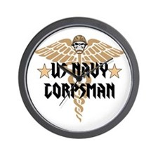 US Navy Corpsman Wall Clock