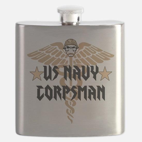 US Navy Corpsman Flask