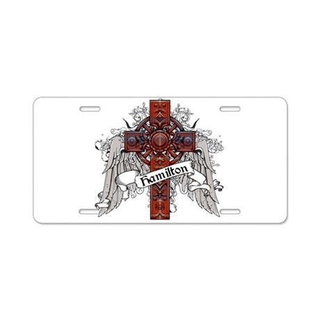 Hamilton Tartan Cross Aluminum License Plate