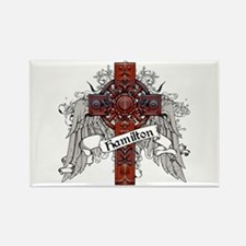 Hamilton Tartan Cross Rectangle Magnet