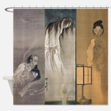 Kawanabe Kyosai 3 Ghosts Shower Curtain