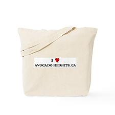 I Love AVOCADO HEIGHTS Tote Bag