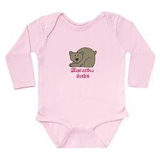 Hibernation Rocks Pink Long Sleeve Infant Bodysuit