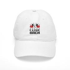 I Love Bach Ladybug Baseball Cap