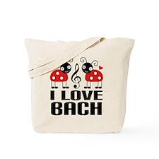 I Love Bach Ladybug Tote Bag