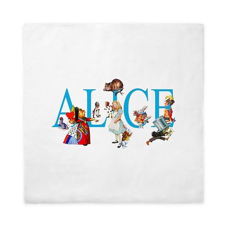 ALICE & FRIENDS IN WONDERLAND Queen Duvet