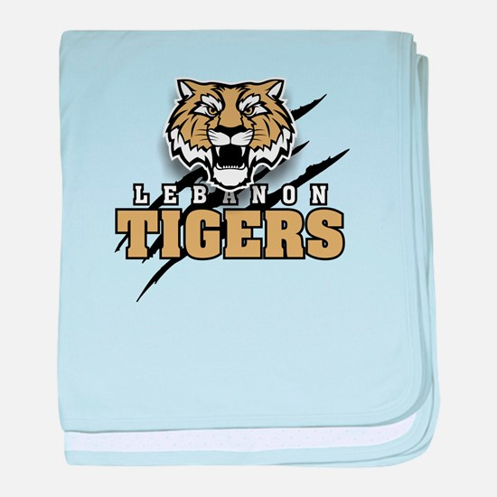 Lebanon Tiger (3) baby blanket