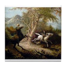 John Quidor Headless Horseman Tile Coaster