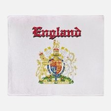 England Coat of arms Throw Blanket