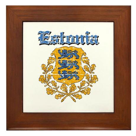 Estonia Coat of arms Framed Tile