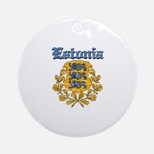 Estonia Coat of arms Ornament (Round)