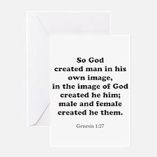 Genesis 1:27 Greeting Card