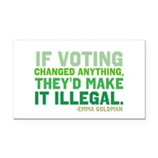 If Voting Changed Anything... Rectangle Car Magnet