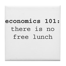 Economics 101 Tile Coaster
