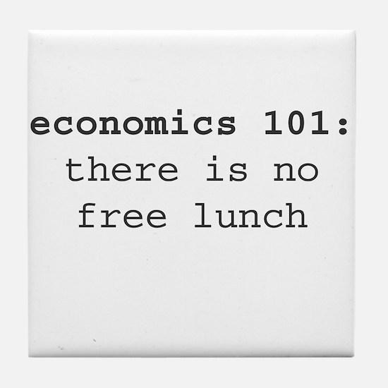 Economics 101 Tile Coaster