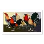 Rooster Dream Team Sticker (Rectangle 50 pk)