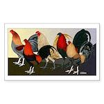 Rooster Dream Team Sticker (Rectangle 10 pk)