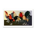 Rooster Dream Team Rectangle Car Magnet